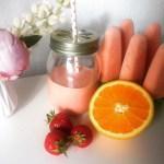 Hjemmelavet is med friske jordbær