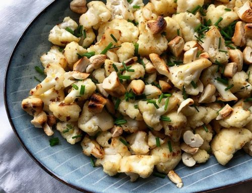 Ristet blomkål med cashewnødder