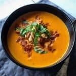 Sund og hjemmelavet tomatsuppe