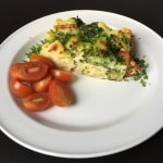 Æggekage med kartofler og broccoli
